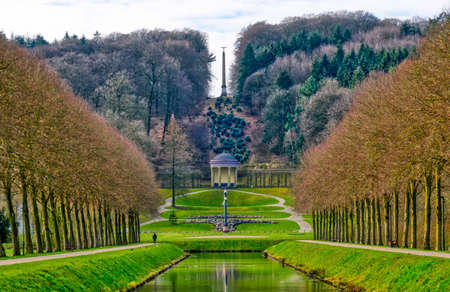Historical park landscape and temple the Tiergarten zoo in Kleve