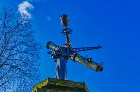 Telescope of a historical observatory in Dusseldorf Bilk