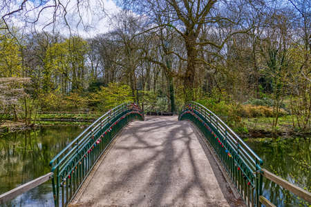 Bridge in a park in Dortmund