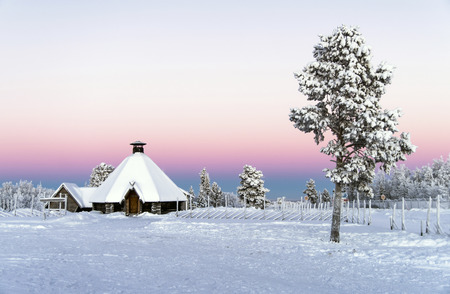 kiruna: Arctic Winter Wonderland  Winter sunset at Kiruna, Sweden