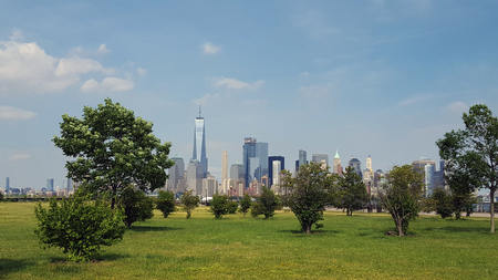 New Your City Manhattan Skyline from Liberty State Park New Jersey