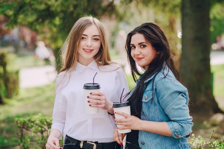 ifestyle: two girls outdor