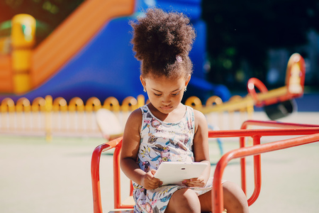 little girl on a walk