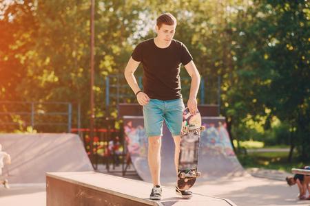 man on a skateboard Stok Fotoğraf