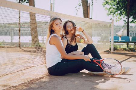 two girls athletes