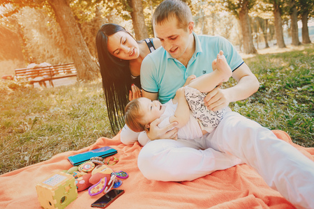 plaything: happy family HD Stock Photo