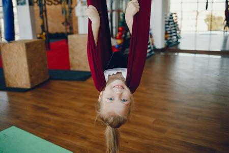 Girl on a fly yoga