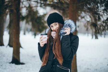 girl in city Stock Photo