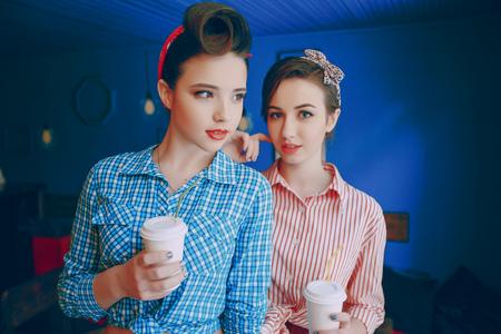 beautiful pin-up girls Stock Photo