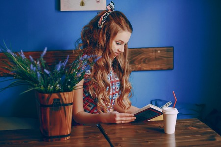 beautiful pin-up girl Stock Photo