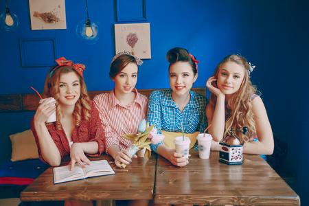 beautiful pin-up girls Banco de Imagens