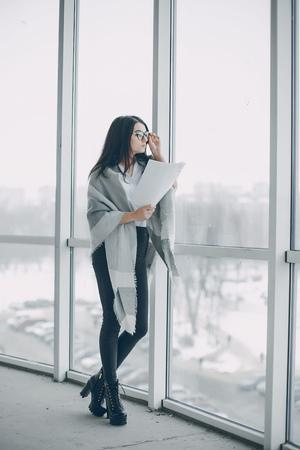 businesswomen in office Stock Photo