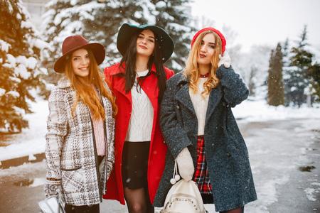 girls in winter