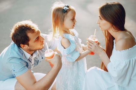 family on a park