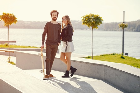 couple with skate