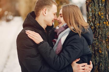 Paar in einem Park
