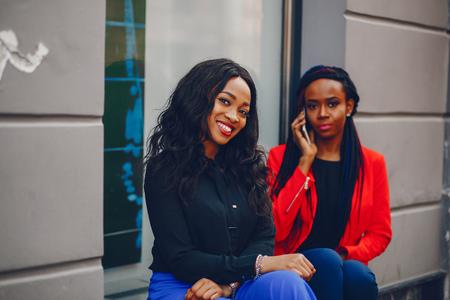 Black women in a city