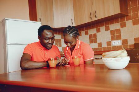 pretty afro couple