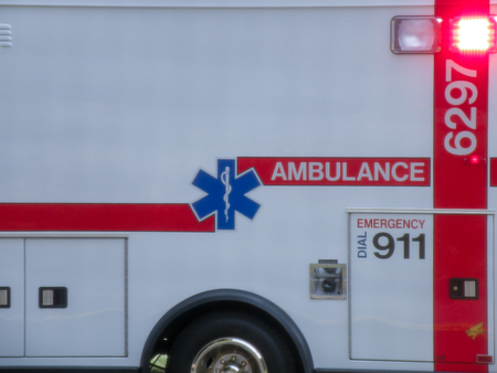 Ambulance close up detail