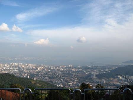 penang: Penang Hill View Stock Photo