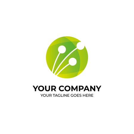 bloom green logo design, suite for spa and healthy business 向量圖像