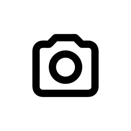 Camera icon photography vector isolated on background. Trendy technology symbol. Pixel perfect. illustration Illusztráció