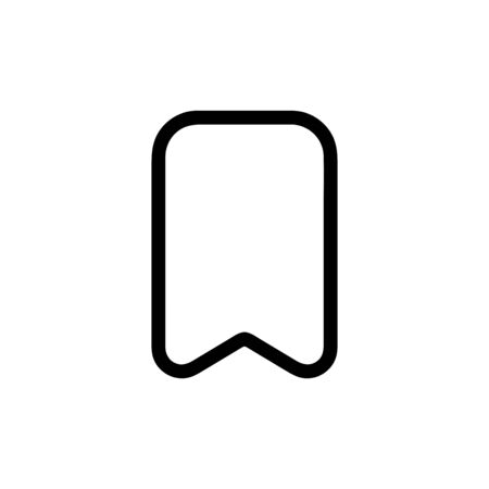 Bookmark vector icon, flag symbol. Simple, flat design for web or mobile app