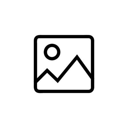 Picture vector icon, image symbol. Simple, flat design for web or mobile app