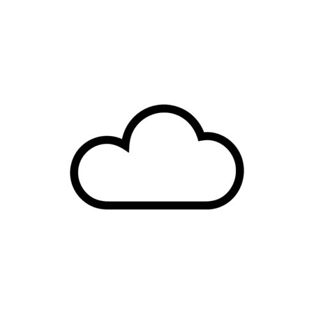 Cloud vector icon, network symbol. Simple, flat design for web or mobile app