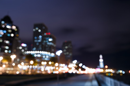 urban scenics: Bokeh and blur of San Francisco skyline at night
