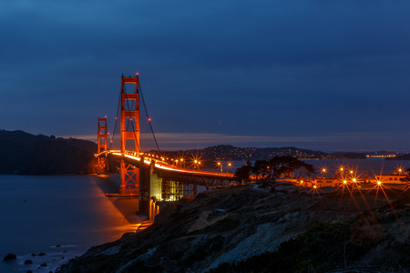 san francisco golden gate bridge: San Francisco Golden Gate Bridge at dusk