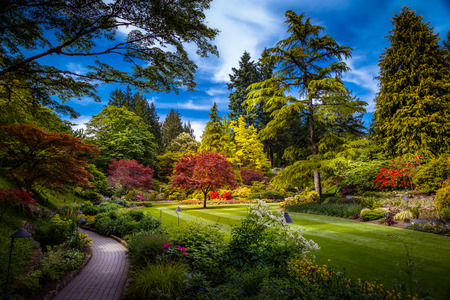 빅토리아 밴쿠버 섬 브리티시 컬럼비아 캐나다에서 Butchart 정원