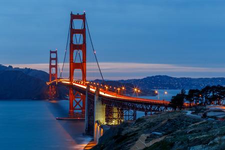 verjas: Puente San Francisco Golden Gate al atardecer  Foto de archivo