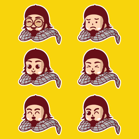 Muslim male emoji characters 矢量图像