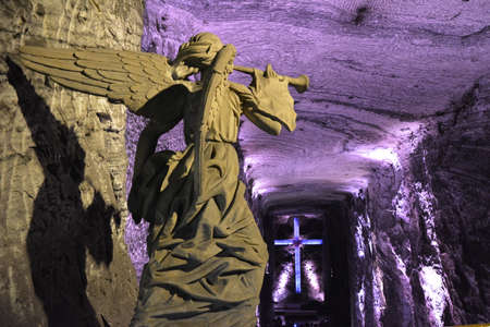 caving: Salt Cathedral of Zipaquira Editorial