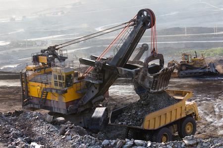 mining truck: Big mining truck working