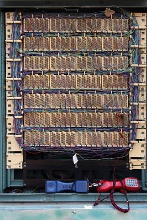 filing cabinet: Telephone Network Cables Cabinet