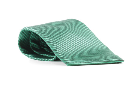 convoluted: Tie green coiled Stock Photo