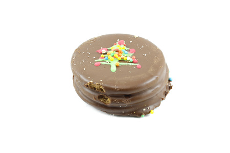 alfajores: cookie with chocolate and delicacy