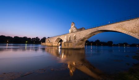 refelction: Avignon Bridge Stock Photo