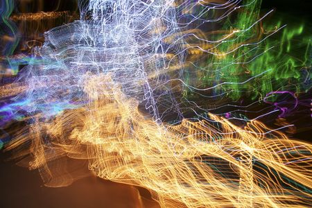 Abstract shot of a  light display.