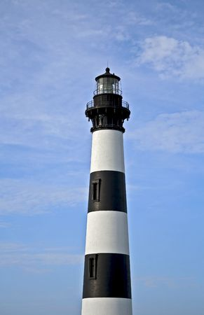 Black and white striped lighthouse located in North Carolina. Stock Photo - 3588638