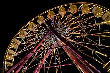 Ferris wheel at the state fair. photo