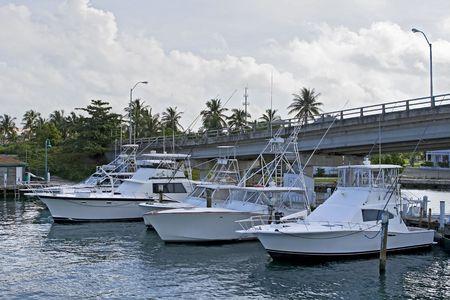 Profonde barche da pesca in mare di un porto turistico. Archivio Fotografico - 3815349