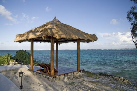 Beach hut on a small and beautiful tropical island. Stock Photo - 3935787