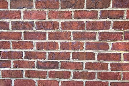 Background of close up red brick wall Stock Photo