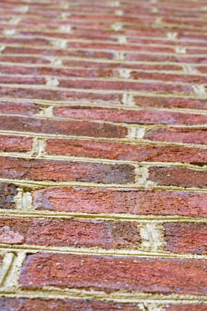 Close up background of red colored bricks. Stock Photo - 4361217