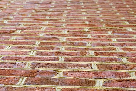 Close up background of red colored bricks. Stock Photo - 4361222