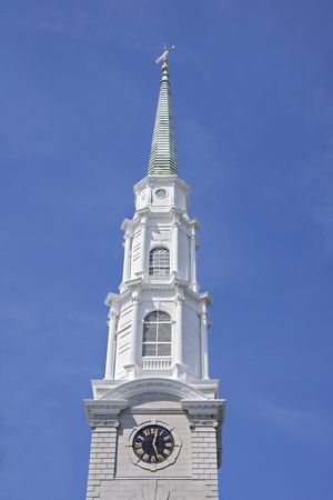crown spire: Architectural detail of the top point of a church.  Stock Photo