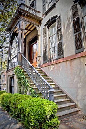 south carolina: Entrance to a southern styled home.